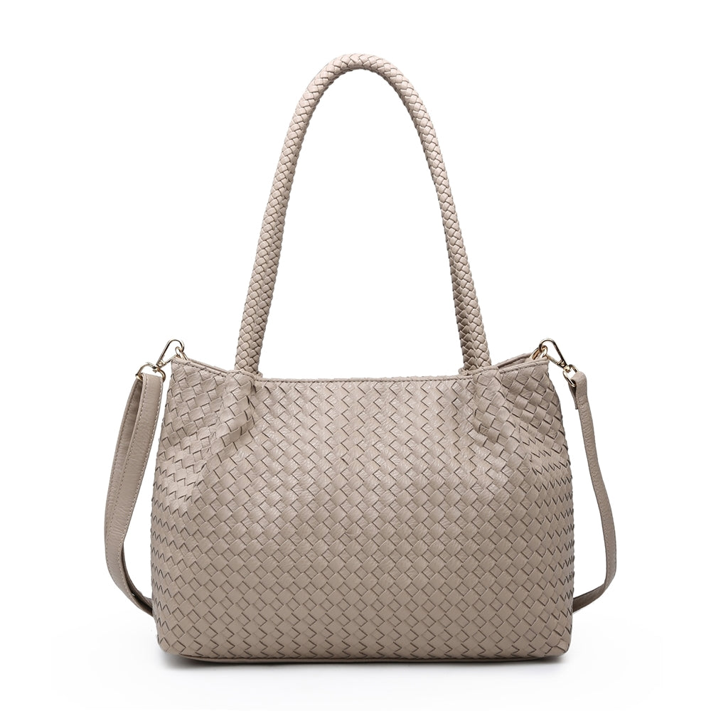 Load image into Gallery viewer, Double Strap Woven Handbag -  Luna Boutiques