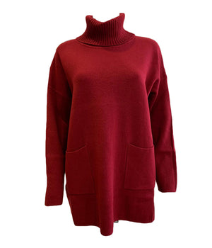 Roll Neck Jumper With Pockets -  Luna Boutiques