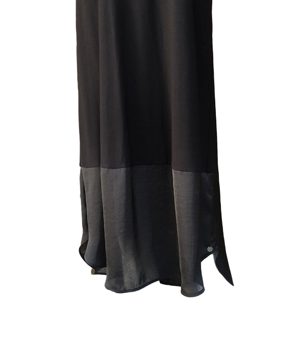 Que V-Neck Long Jersey Dress -  Luna Boutiques