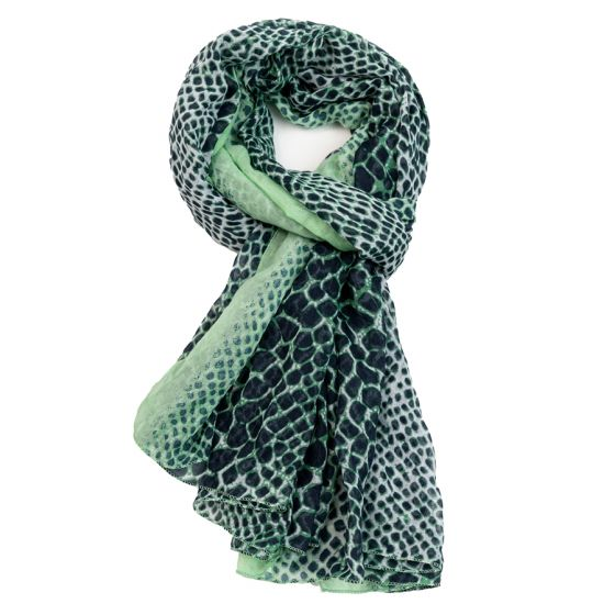 Coloured Snakeskin Pattern Scarf -  Luna Boutiques