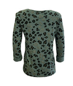 Leopard Sparkle Long Sleeve Top -  Luna Boutiques