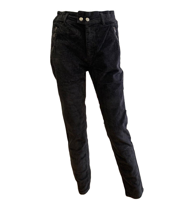 Tapered Cords with Zip Detail -  Luna Boutiques