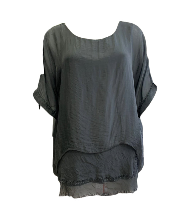Silk Feel Double Layer Top -  Luna Boutiques