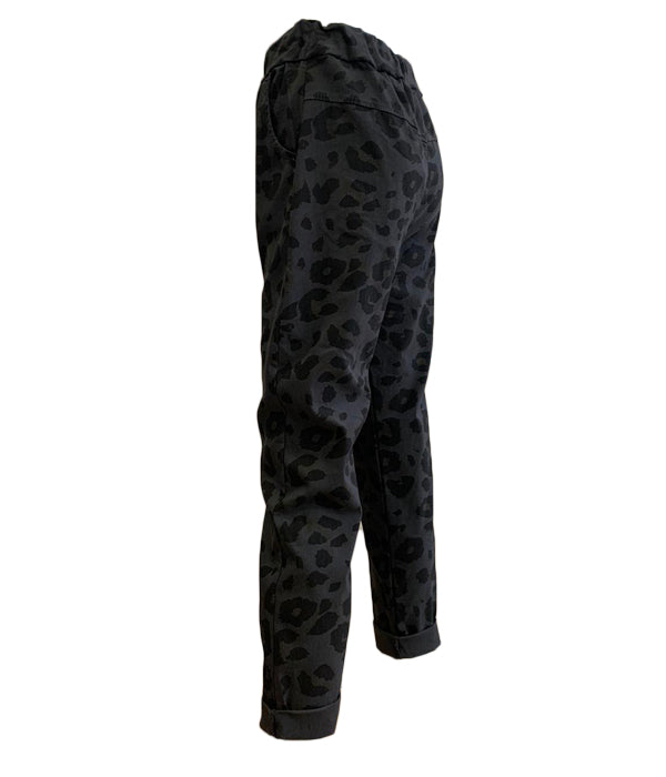 Animal Print Stretch Trousers -  Luna Boutiques