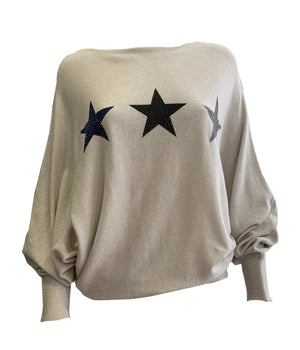 Three Star Batwing Jumper -  Luna Boutiques