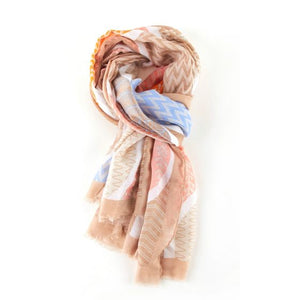Colourful Geo Leaves Scarf -  Luna Boutiques