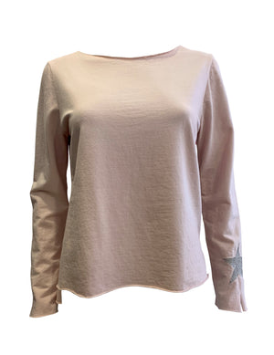 Load image into Gallery viewer, Jersey Long Sleeve Tee With Star Detail -  Luna Boutiques