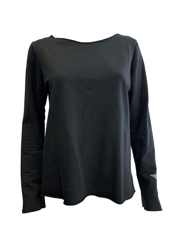 Jersey Long Sleeve Tee With Star Detail -  Luna Boutiques