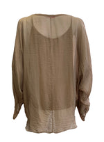 Double Layer Silk Top With Buttons -  Luna Boutiques