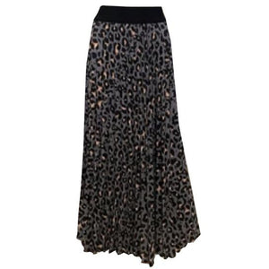 Animal Print Long Skirt -  Luna Boutiques