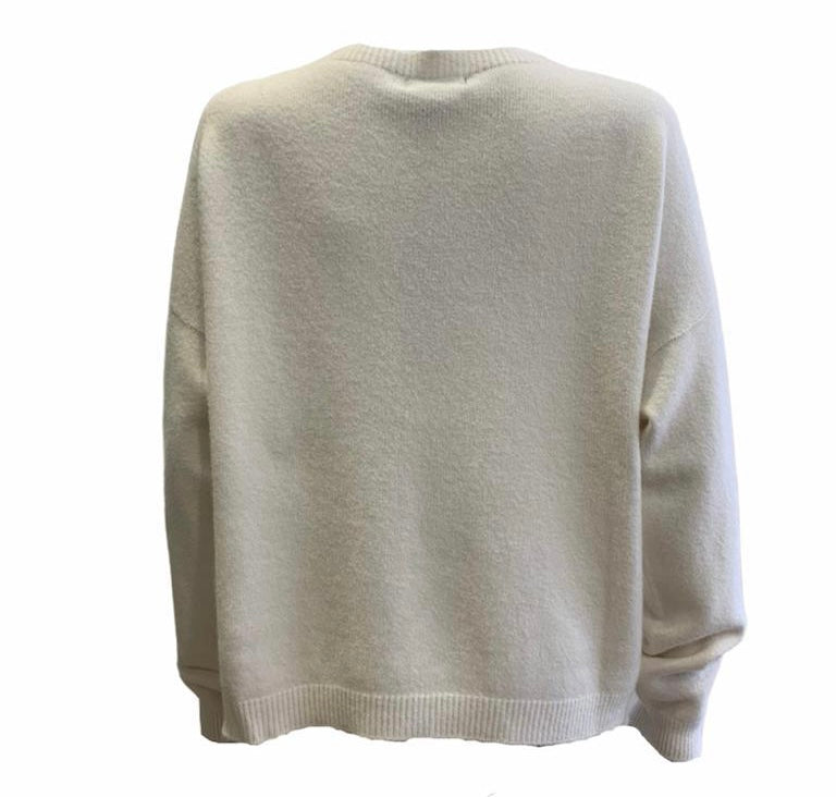 Load image into Gallery viewer, Round Neck Plain Knit -  Luna Boutiques