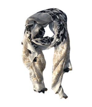 Load image into Gallery viewer, Multi Stripe Print Scarf -  Luna Boutiques