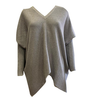V Neck Batwing Ribbed Sleeve Jumper -  Luna Boutiques