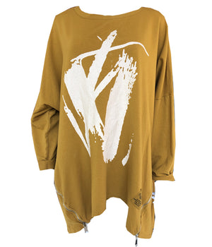 Load image into Gallery viewer, Oversize Sweatshirt with Zips -  Luna Boutiques