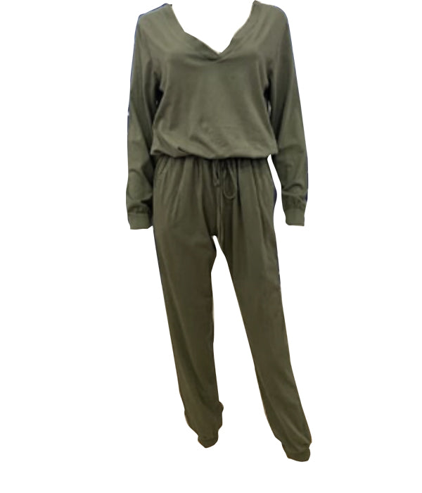Load image into Gallery viewer, Long Sleeve Jumpsuit -  Luna Boutiques
