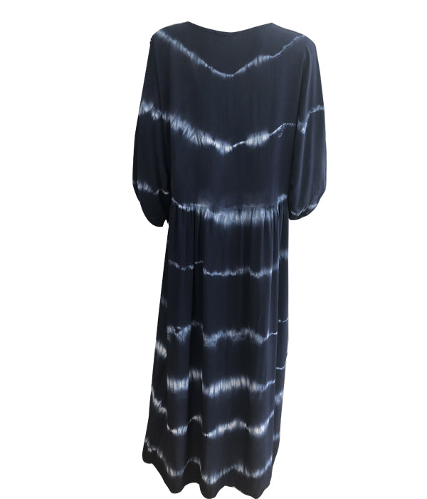 Tie Dye V Neck Dress -  Luna Boutiques