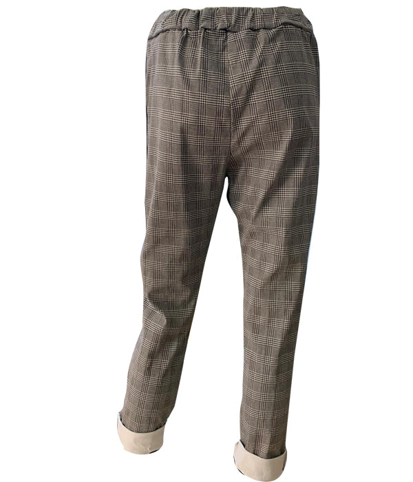 Houndstooth Check Trousers -  Luna Boutiques