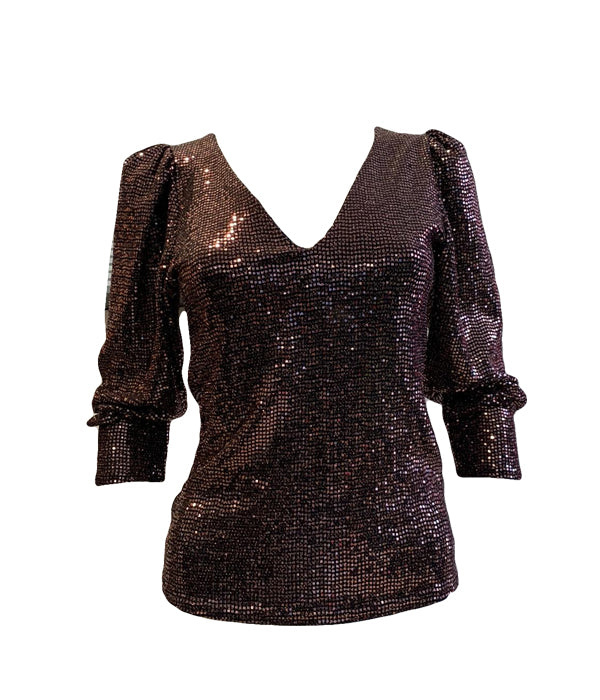Long Sleeve Sequin Top -  Luna Boutiques
