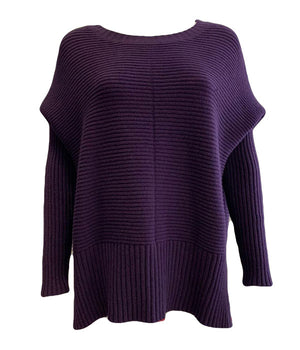 Ribbed Batwing Sleeve Jumper -  Luna Boutiques