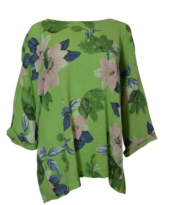 Load image into Gallery viewer, Floral Round Neck Top -  Luna Boutiques