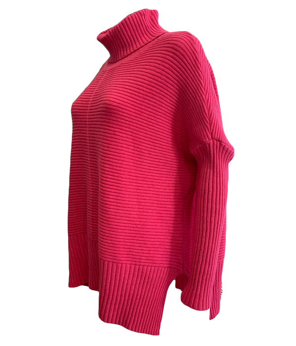 Roll Neck Ribbed Jumper -  Luna Boutiques