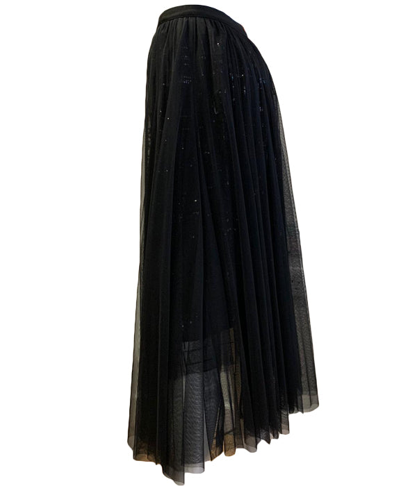 Load image into Gallery viewer, Sequins Lining Net Skirt -  Luna Boutiques