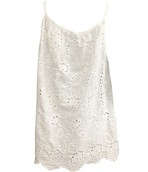 Load image into Gallery viewer, Broderie Anglaise Vest Top with Tassle -  Luna Boutiques