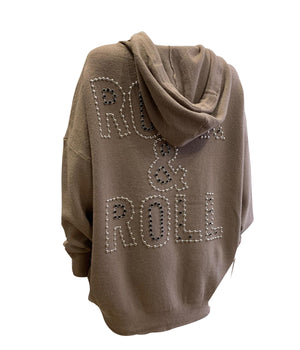 Rock & Roll Knit Hoodie -  Luna Boutiques