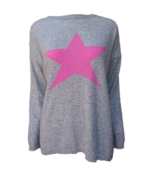 Load image into Gallery viewer, Cashmere Star Jumper -  Luna Boutiques