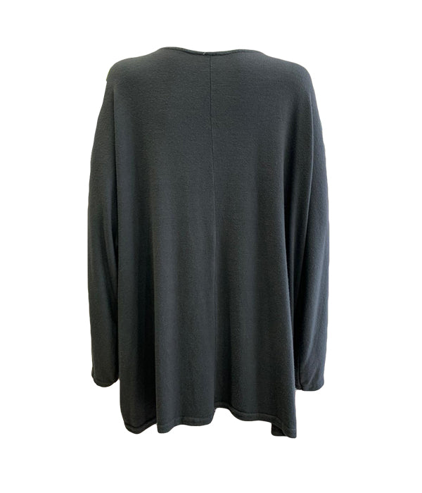 Long Sleeve Light Knit With Pockets -  Luna Boutiques