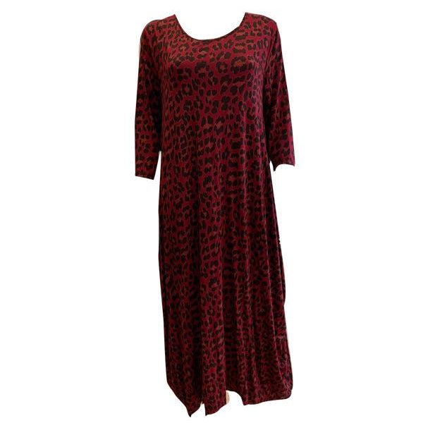 Animal Print Long Sleeve Parachute Dress -  Luna Boutiques