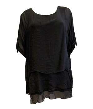 Load image into Gallery viewer, Silk Double Layer Top -  Luna Boutiques
