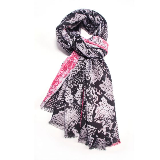 Neon Snakeskin Scarf -  Luna Boutiques