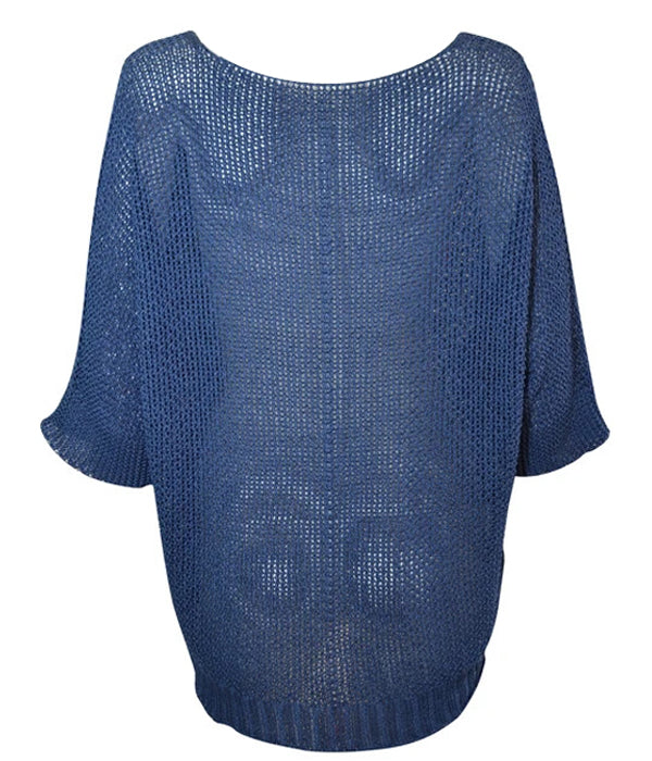 Load image into Gallery viewer, Miss Sugar V-Neck Crochet Jumper -  Luna Boutiques