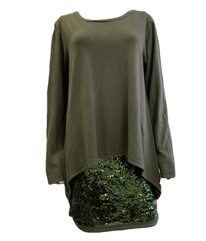 Load image into Gallery viewer, Double Layer Sequin Tunic -  Luna Boutiques