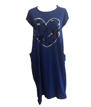 Cotton heart dress with pockets -  Luna Boutiques