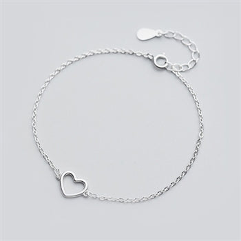 Load image into Gallery viewer, Open Heart Bracelet in Solid Sterling Silver -  Luna Boutiques