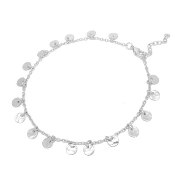Bracelet With Silver Plated Discs -  Luna Boutiques