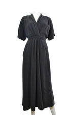 V Neck Front Pockets Dress