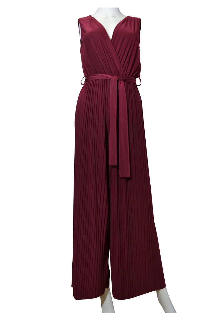 Sleeveless Pleated Jumpsuit -  Luna Boutiques