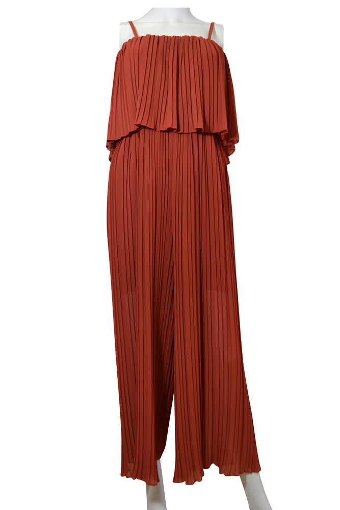 Pleat Layer Top Jumpsuit