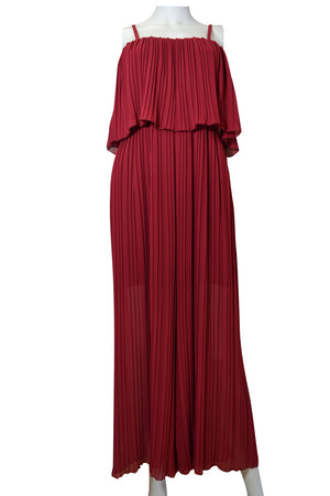 Pleat Layer Top Jumpsuit -  Luna Boutiques