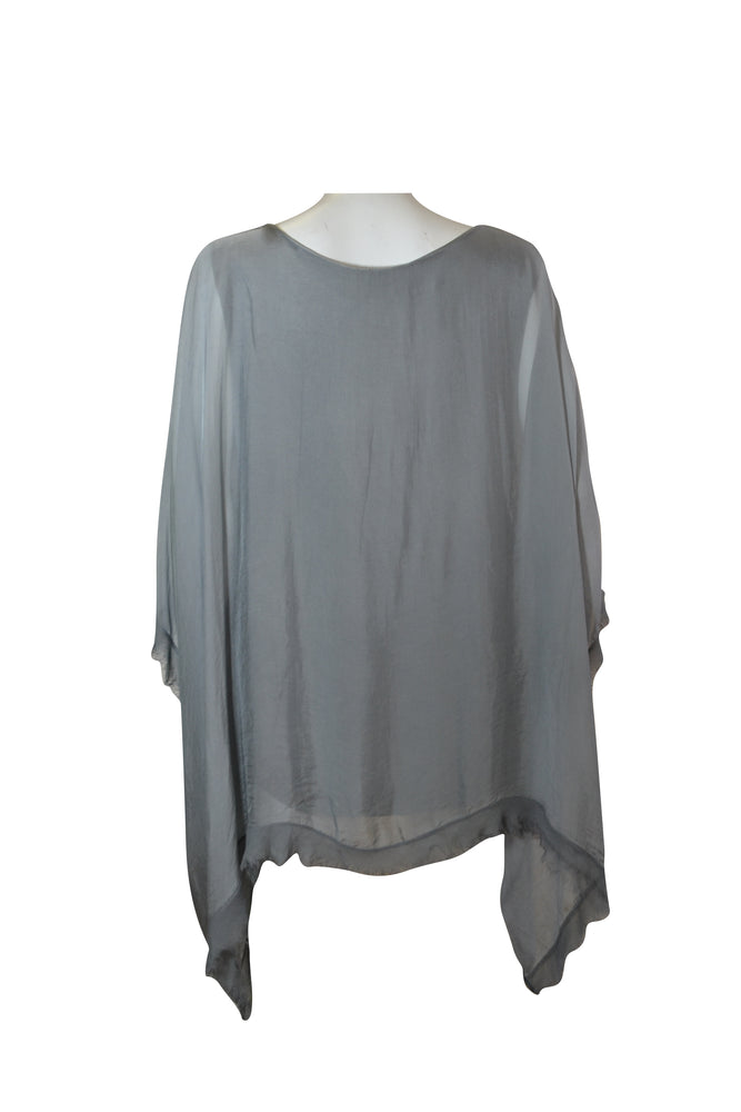 Edge Detail Floaty Silk Top