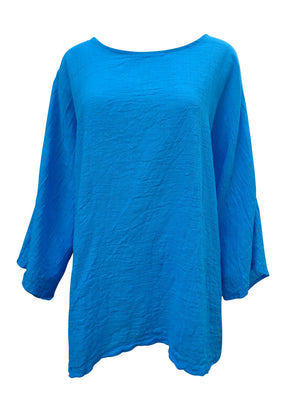 Plain Roll sleeve Cotton Top -  Luna Boutiques