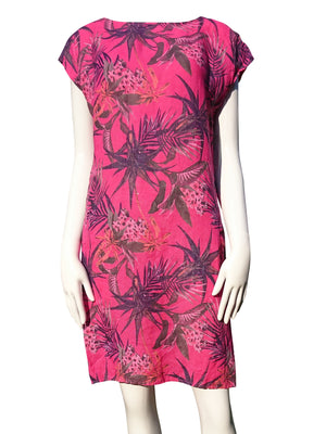 Load image into Gallery viewer, Orchid Flower Linen Dress -  Luna Boutiques