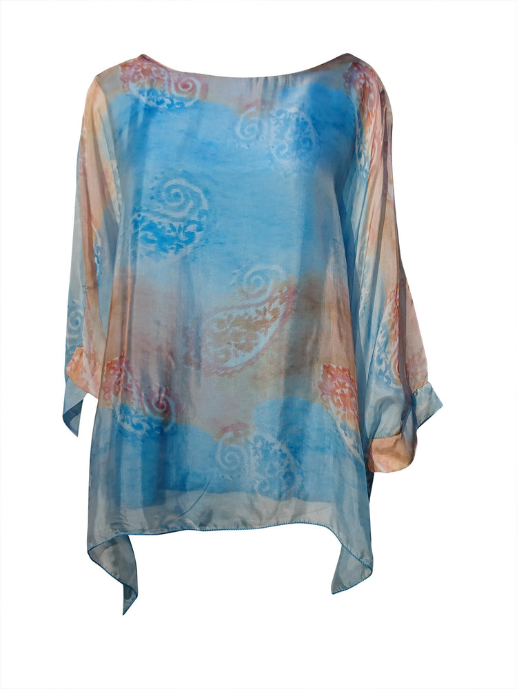 Paisley Print Floaty Silk Top -  Luna Boutiques