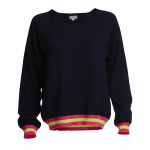 Load image into Gallery viewer, Philly Navy Cashmere Jumper -  Luna Boutiques