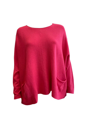 Load image into Gallery viewer, Ribbed Batwing Pocket Jumper -  Luna Boutiques