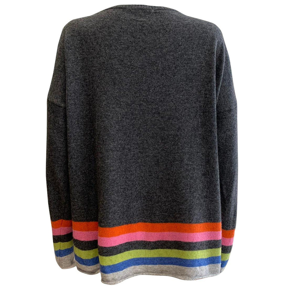 50% Cashmere Mix Stripe & Star Jumper -  Luna Boutiques