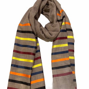 Load image into Gallery viewer, Cashmere Stripe Scarf -  Luna Boutiques